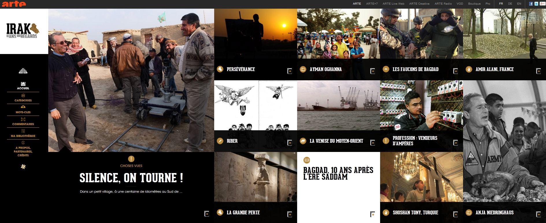 Le webdocumentaire « Irak, 2003-2013 – 10 ans, 100 regards » nommé aux Webby Awards 2014